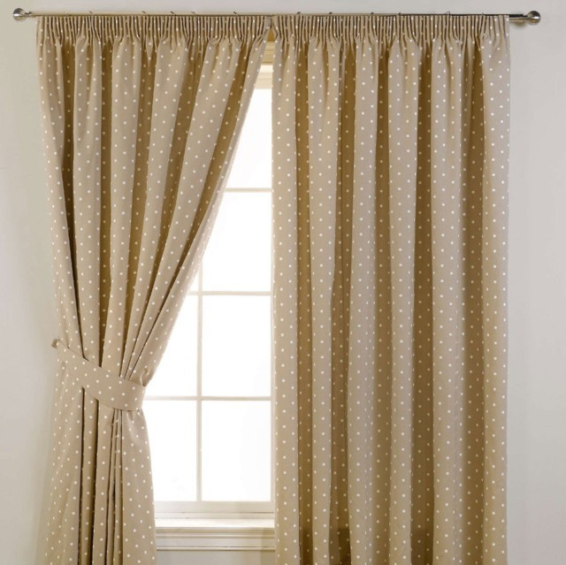 Dotty Blackout Taupe Black Out Curtains By Officecarpets Ae