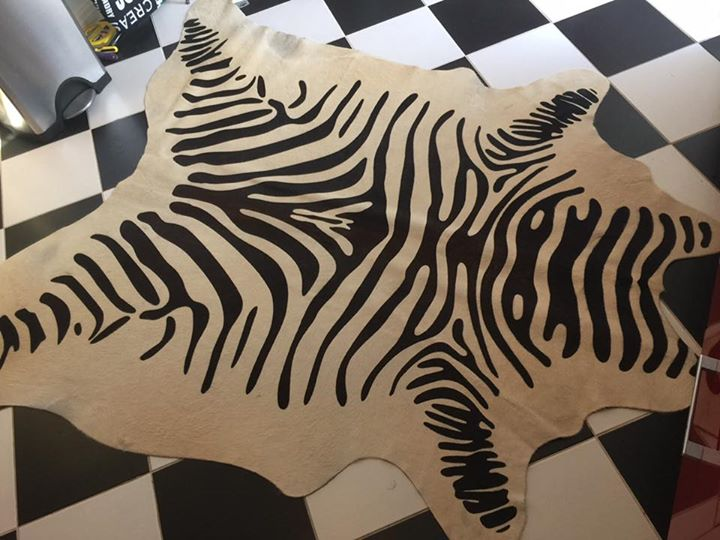 Zebra hides and Rugs design in dubai by officecarpets.ae