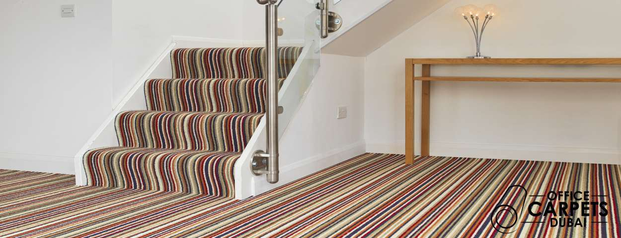 striped carpets