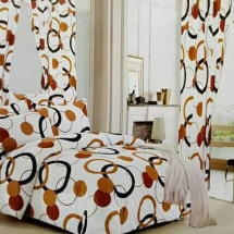 cotton curtains design in dubai with bed sheet for your bedroom 125