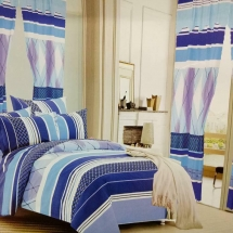 cotton curtains design in dubai with bed sheet for your bedroom