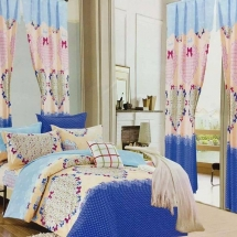 cotton curtains design in dubai with bed sheet for your bedroom eew