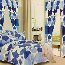 cotton curtains design in dubai with bed sheet for your bedroom ssw