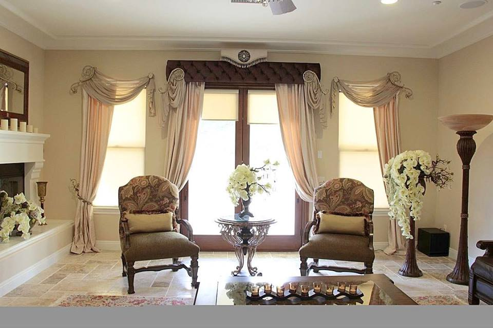 living room curtains design in dubai